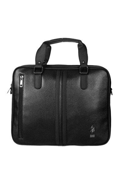 U.S. Polo Assn. Laptop Bölmeli Evrak Çantası Siyah Plevr6753