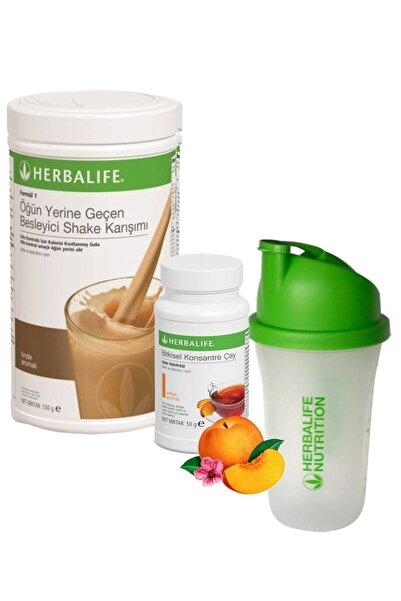 Herbalife Shake Fındık 550 gr + Çay Şeftali 50 gr + Shaker