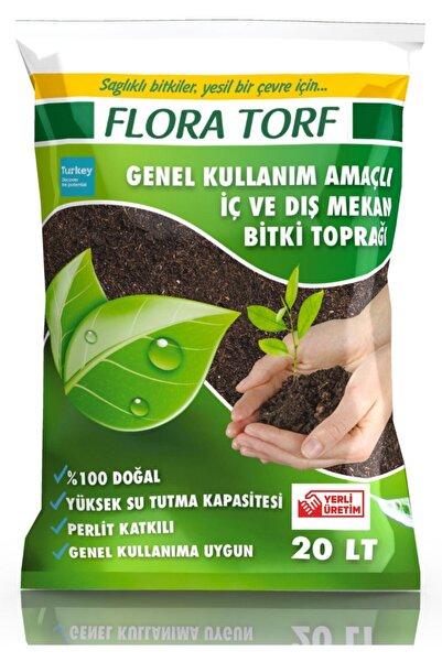 MF Botanik Flora Torf Saksı Çiçek Toprağı Perlit Katkılı 20 Litre