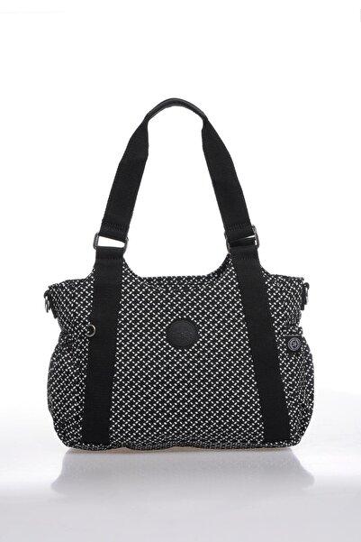 SMART BAGS Kadın Siyah Beyaz Omuz Çantası Smbk1163-0127