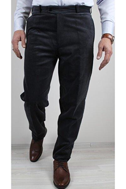 Bilgiçler Erkek Klasik Kesim Kadife Pantolon Koyu Gri