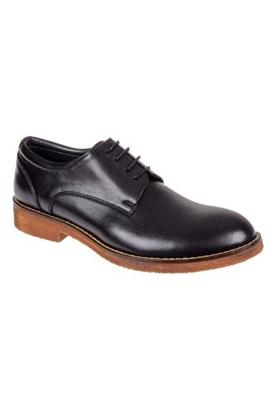 Friendly Erkek Siyah Hakiki Deri Günlük Ayakkabı Z-05 Siyah