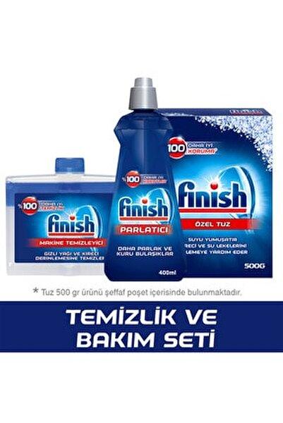 Temizlik ve Bakım Seti (Parlatıcı 400 ml + Makine Temizleyici Sıvı 250 ml + Tuz 500 gr)