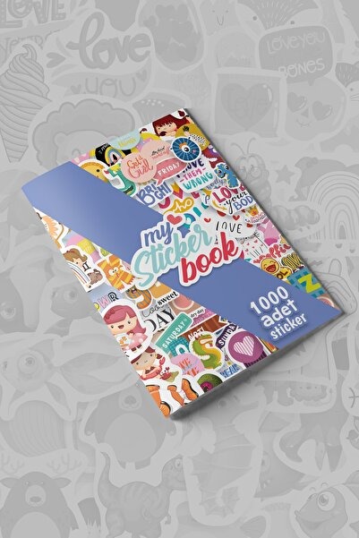 colortouch My Sticker Book , 1000 Adet Sticker , 16 Sayfa ( A5 Boyut)