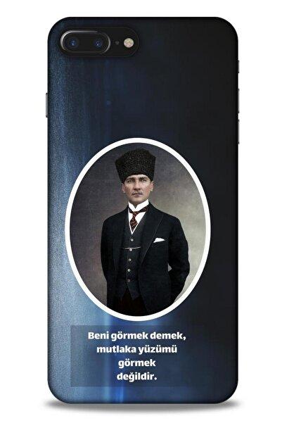 Lopard Iphone 7 Plus Uyumlu Atatürk (7) Telefon Lacivert Kılıf