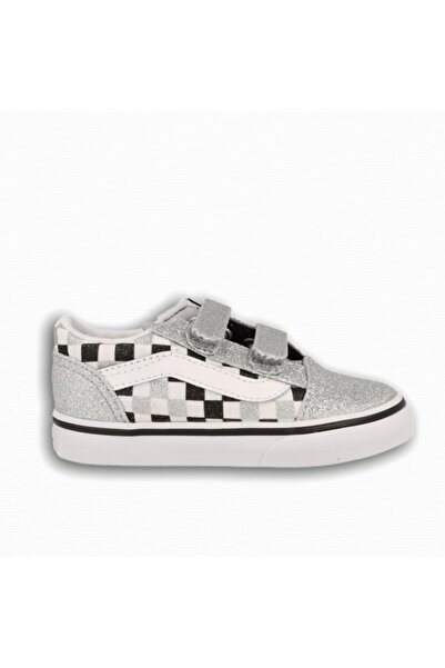 Vans Kız Çocuk Old Skool V Glitter Checkerboard Sneaker