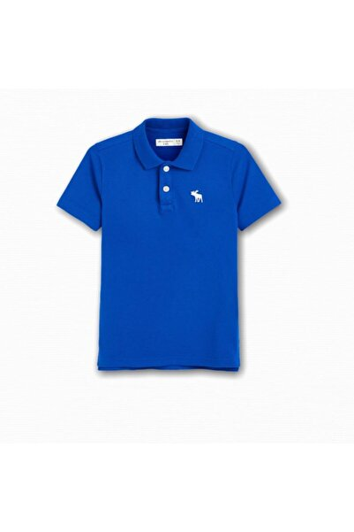Abercrombie Erkek Çocuk Mavi Polo Yaka T-shirt