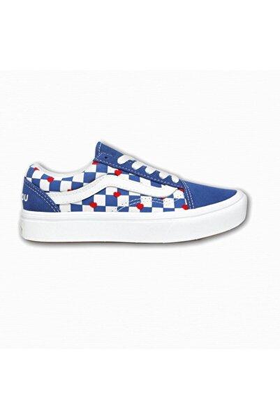 Vans Unisex Çocuk Mavi Desenli Bağıcıklı Sneaker