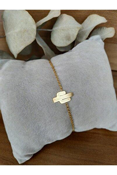 Mammamia Kadın Kaktüs Gold Çelik Bileklik