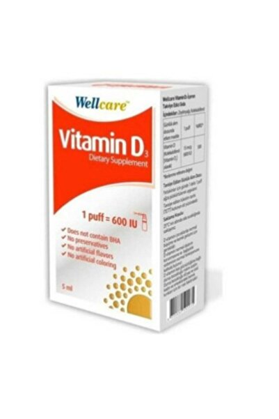 Wellcare Vitamin D3 Sprey 600 Iu 5 ml