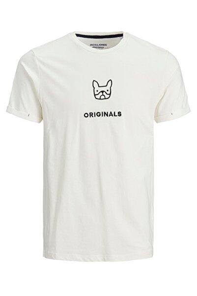 Jack & Jones Erkek Nakışlı Köpek Logo Tshirt - 12195216