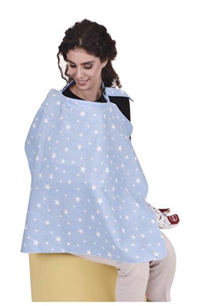 Sevi Bebe Tokalı Emzirme Örtüsü Art-6372 Mavi Yıldız