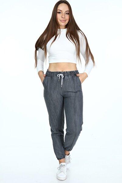 Rodi Jeans Kadın Gri Paça Lastikli Pantolon Ds21kb010712