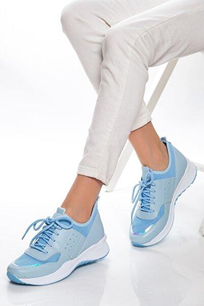 derithy Kadın Mavi Sneaker