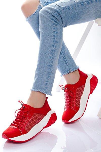 derithy Kadın Kırmızı Sneaker