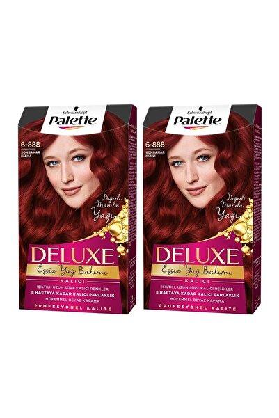 Palette Deluxe 6-888 Sonbahar Kızılı X 2 Adet Saç Boyası