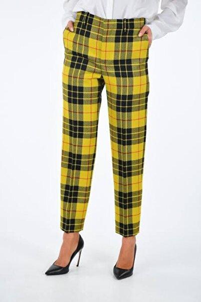 ZAVİRA Kare Desenli Ekoseli Kadın Pantolon Primark (TREND)