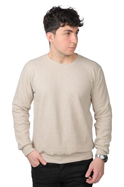 Funny Erkek Bej Slim Fit Sweatshirt