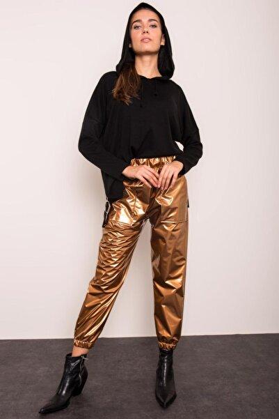 BSL Gold Renkli Bel Ve Paça Lastikli Cep Detaylı Pantolon