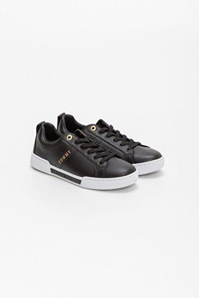 Tommy Hilfiger Kadın Siyah Cupsole Sneaker