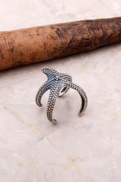 Sümer Telkari Deniz Yıldızı Tasarımlı Gümüş Elişi yüzük 3057