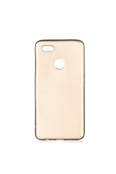 Oppo A5s Uyumlu (soft Tasarım) Yumuşak Silikon Kılıf Gold