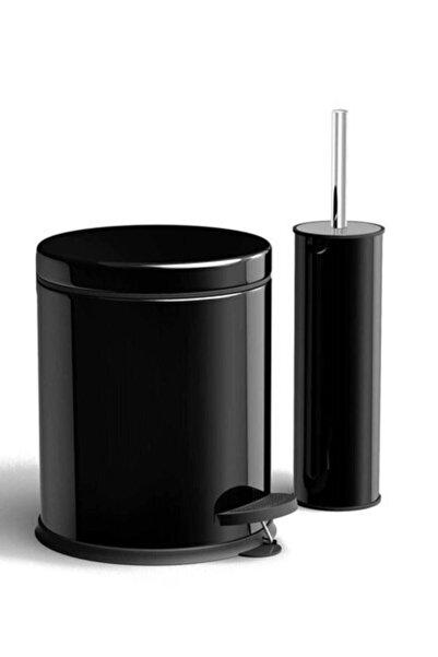 PİA MARKET 3 Lt Pedallı Çöp Kovası + Tuvalet Fırçası Seti ( Türk Malı )