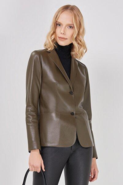 Desa Kadın Çift Taraflı Deri Blazer Ceket