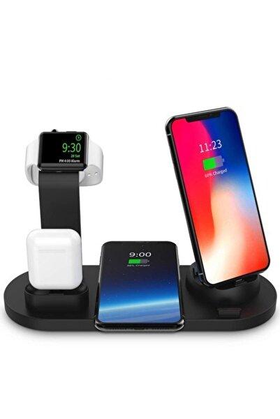 Techno phone Iphone Iwatch Airpods Ve Tüm Android Cıhazlar Için 3'ü 1 Arada Çok Fonksiyonlu Kablosuz Şarj Standı