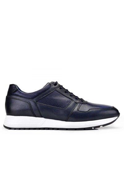 Nevzat Onay Erkek Lacivert Hakiki Deri Sneaker Ayakkabı 10825