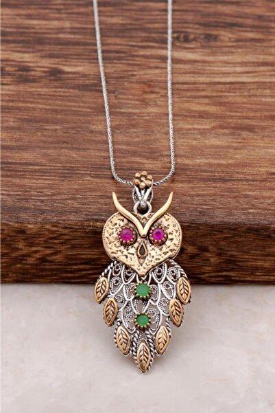 Sümer Telkari Kadın Baykuş El Yapımı Telkari Gümüş Kolye 950