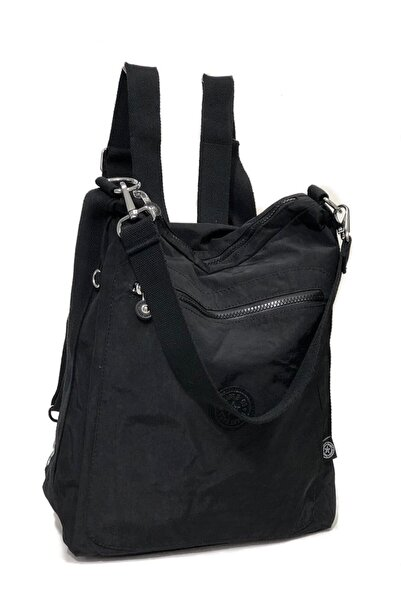 SMART BAGS Bayan Krinkıl Kumaş Sırt Ve Kol Çantası Ebat 37cm34cm Siyah
