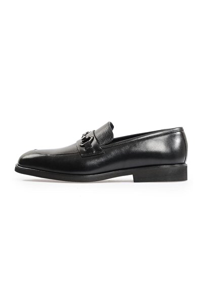 Flower Siyah Tokalı Eva Tabanlı Ayakkabı