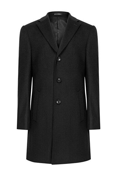 W Collection Siyah Kaşmirli Palto