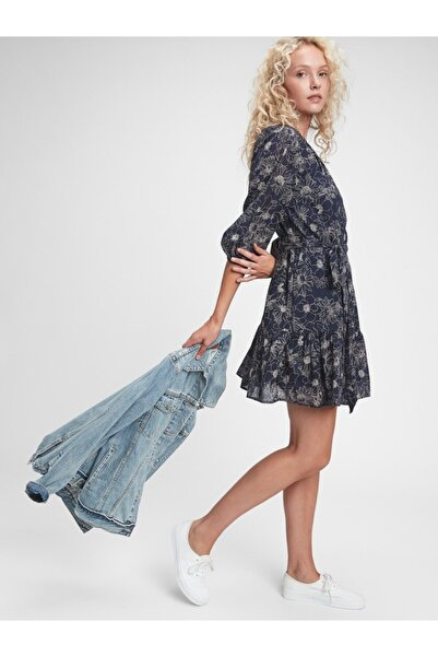 GAP Desenli Mini Elbise