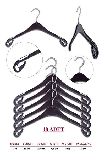 TENA MODA Unisex Siyah Çocuk Kıyafet Elbise Askısı 10 Adet