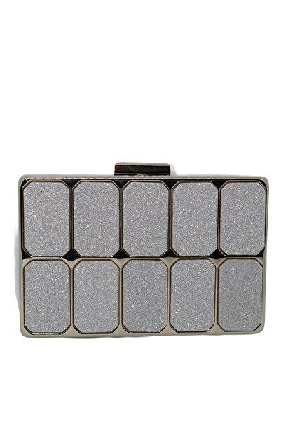 weem bag Metal Gümüş Kum Sim Abiye Çanta