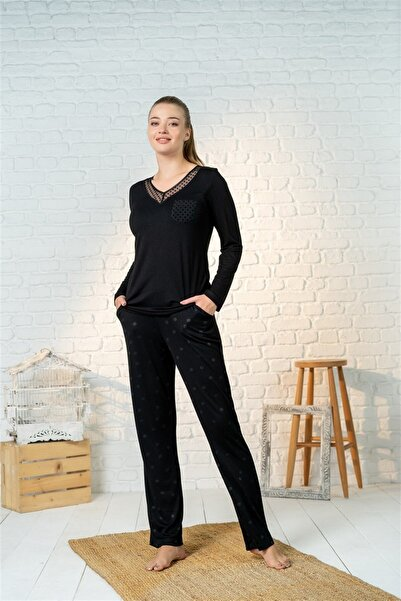 Cossy By Aqua Aqua 21077 Pijama Takım Siyah