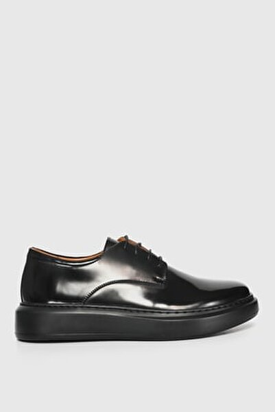 Flap Deri Sneaker Siyah
