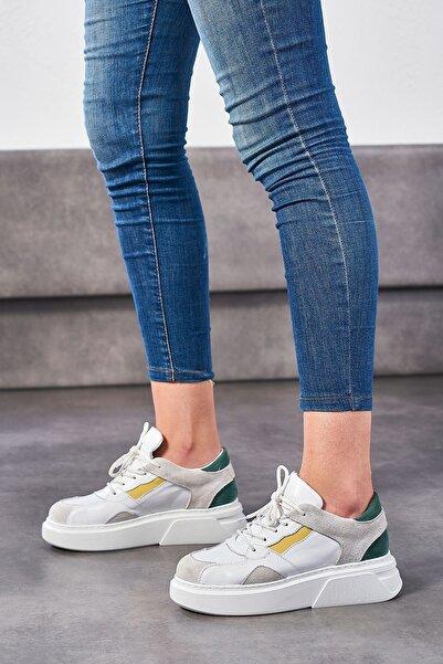 Louis Cardy Sinis Beyaz Hakiki Deri Kadın Sneakers