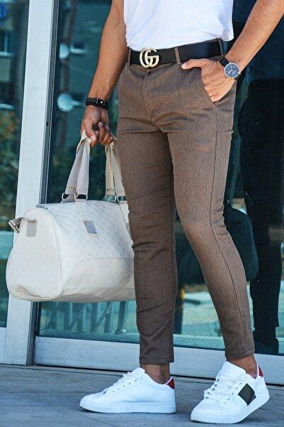 Terapi Men Erkek Slim Fit Keten Pantolon 20y-2200298 Kahverengi
