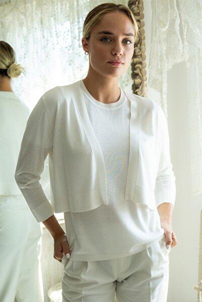 Silk and Cashmere Ipek Karışımlı Belinda Bolero