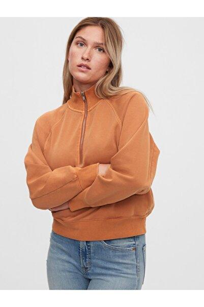GAP Yarım Fermuarlı Sweatshirt