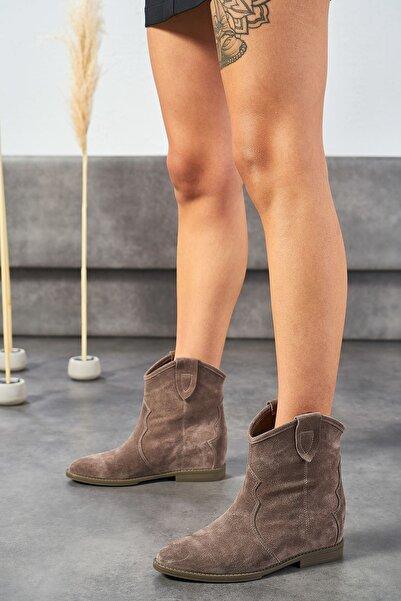 Louis Cardy Concus Vizon Hakiki Deri Kadın Gizli Topuk Bot