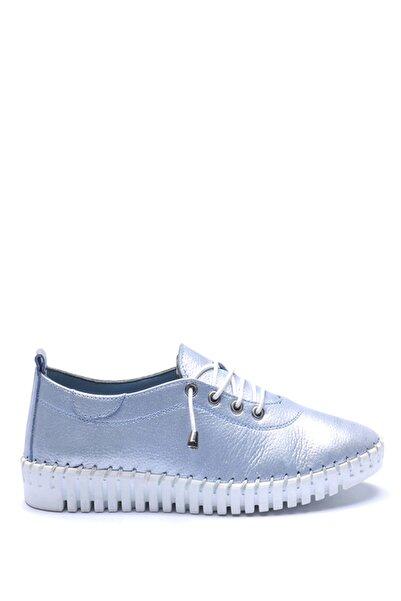 Bulldozer 181686 Mavı Sımlı Kadın Deri Ayakkabı