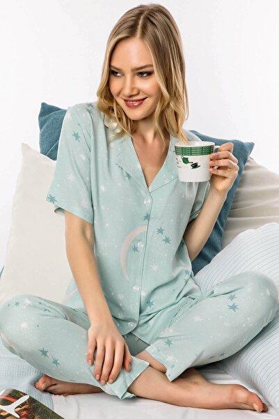 Lohusa Sepeti 1007 Notte Di Menta Önden Düğmeli Pijama Takımı