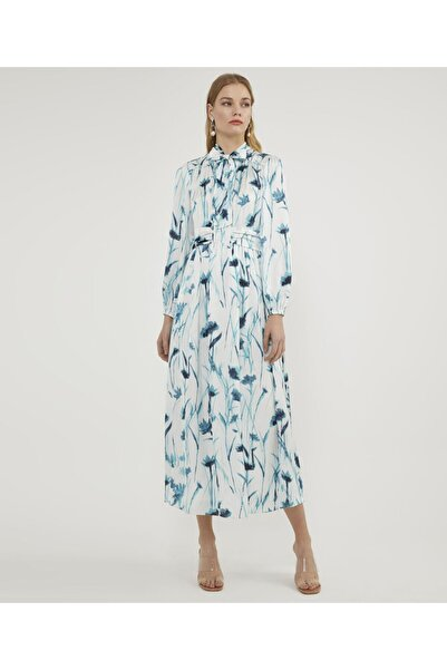 Aker Fularlı Desenli Elbise V43110299