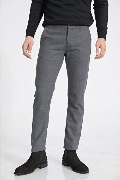 Avva Erkek Gri Yandan Cepli Flanel Slim Fit Pantolon A02y3038