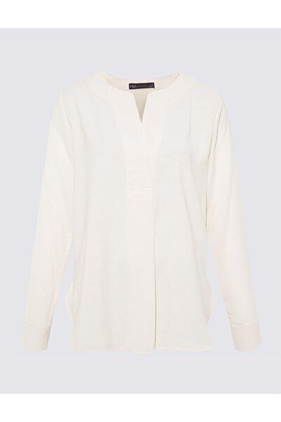 Marks & Spencer Uzun Kollu Popover Bluz
