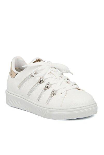 Tergan Beyaz Tekstil Kadın Ayakkabı 64455d93